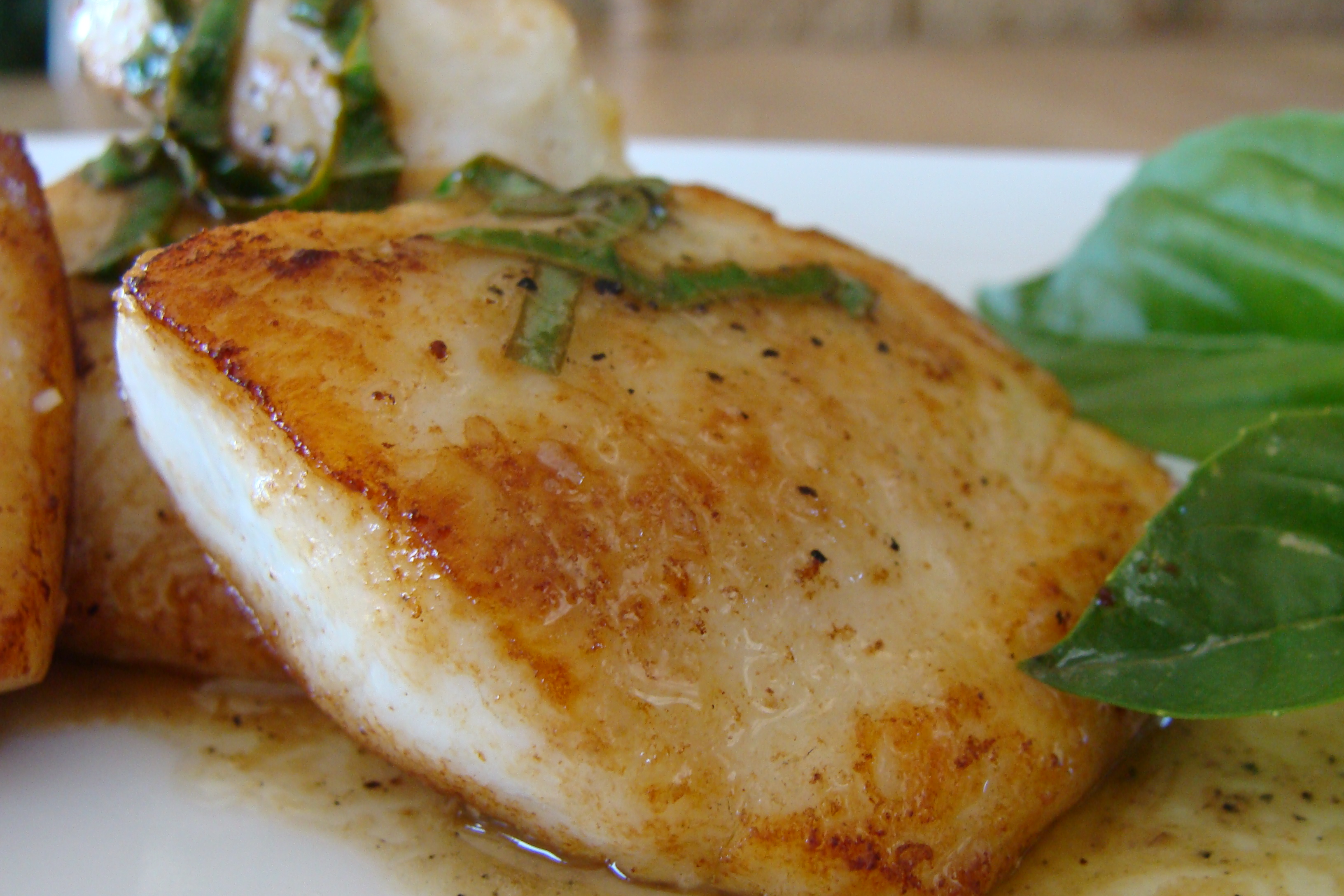 Fish friday tilapia with lemon basil sauce vivek 39 s for Cooking with fish sauce