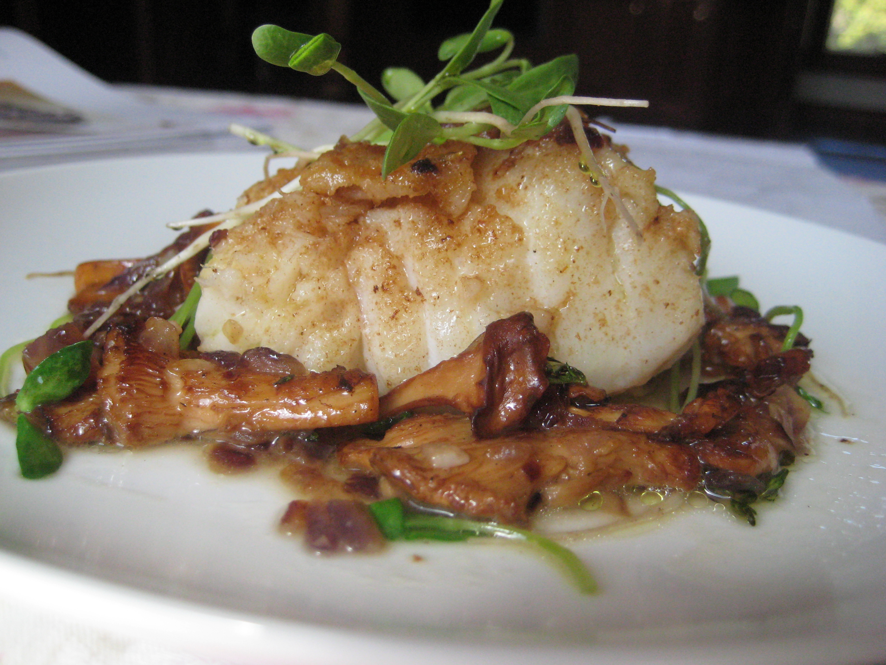 ... » Sunday Supper – Pan Roasted Cod with Chanterelle Mushrooms