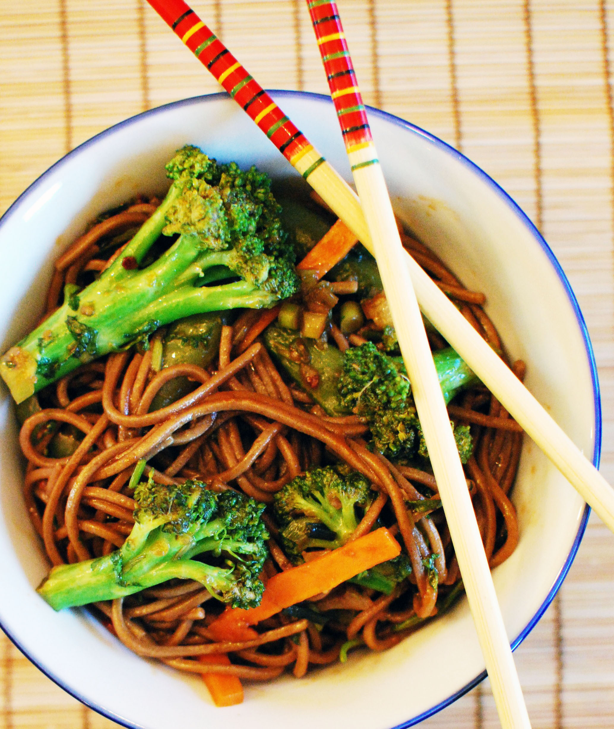 soba noodles soba noodles with broccoli sauce recipes dishmaps soba ...